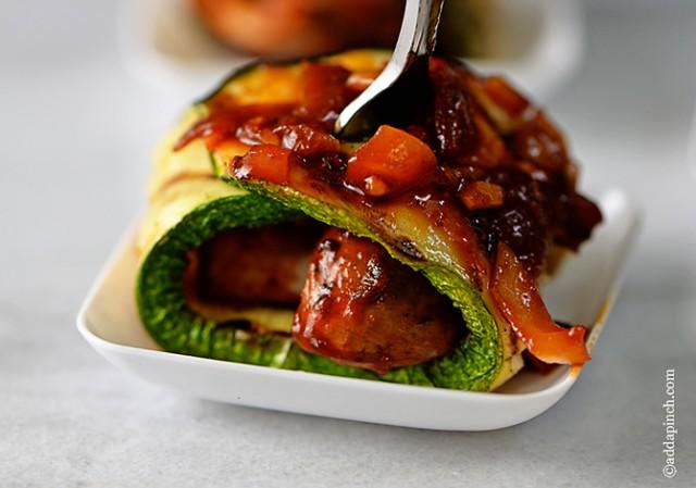 Mushroom Zucchini Rolls | ©addapinch.com