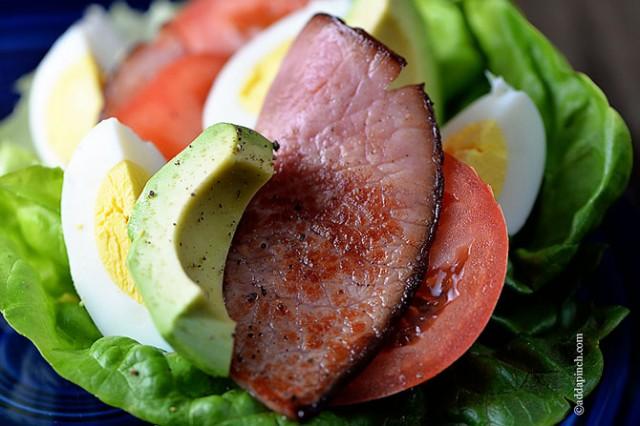 Cobb Salad Lettuce Wraps   ©addapinch.com