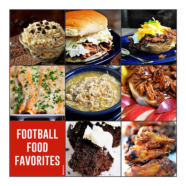 Football Food Favorites | ©addapinch.com
