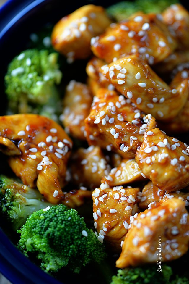 Orange Chicken Recipe | ©addapinch.com