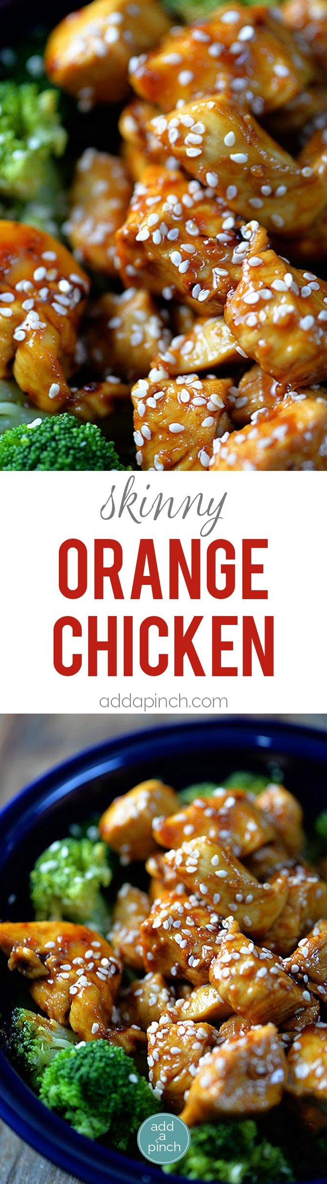 Orange Chicken makes a favorite Chinese dish. A lightened Orange Chicken recipe which is Paleo-friendly, gluten-free, and grain-free, yet full of flavor! // addapinch.com