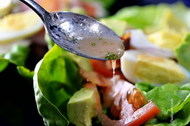 Red Wine Vinaigrette Recipe | ©addapinch.com