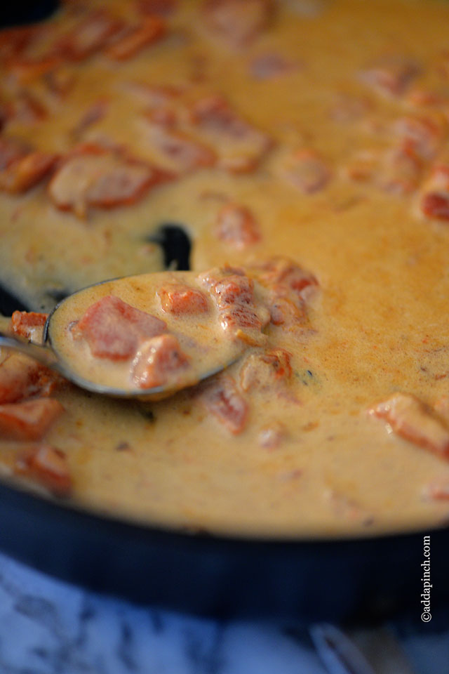 Roasted Red Pepper Cream Sauce Recipe | ©addapinch.com