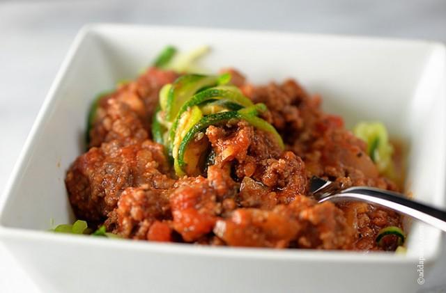 Spaghetti Recipe Paleo | ©addapinch.com