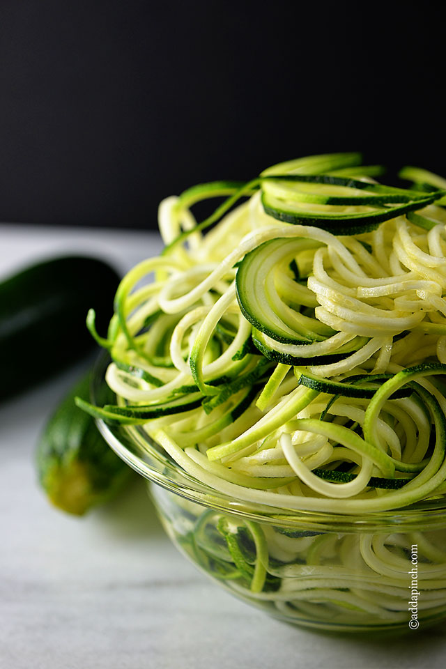 zucchini-pasta-recipe | ©addapinch.com