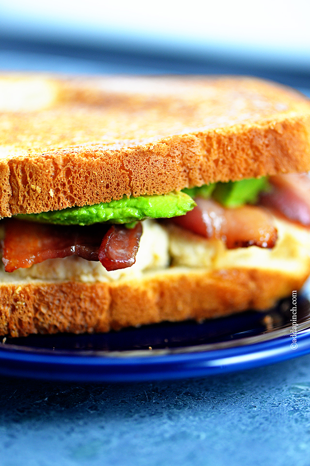 Chicken Salad Sandwich Recipe | ©addapinch.com