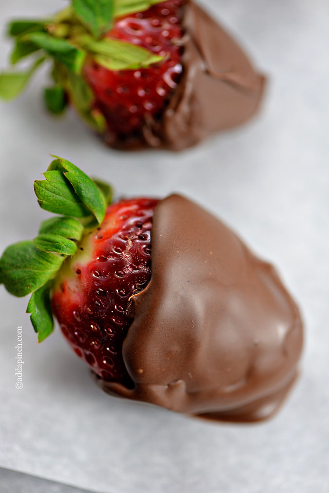 Chocolate Covered Strawberries | ©addapinch.com