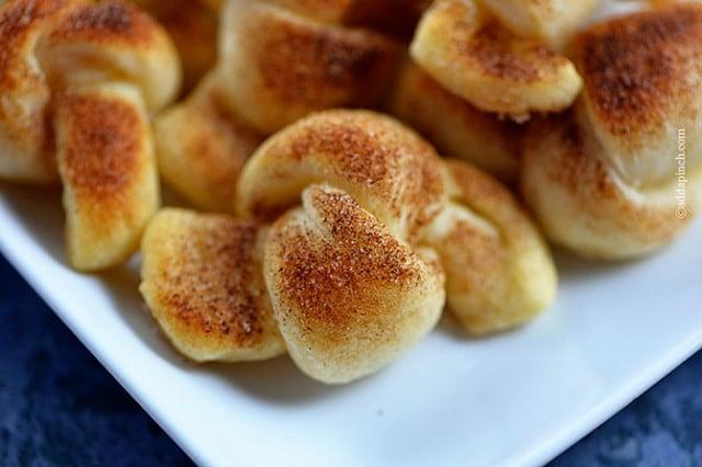 Cinnamon Sugar Knots Recipe | ©addapinch.com