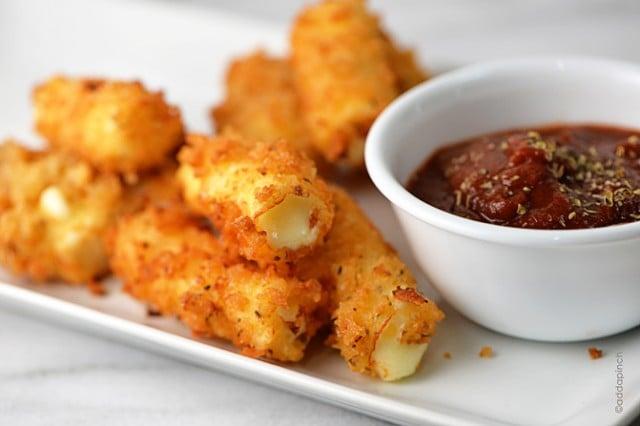 Fried Cheese Sticks Recipe | ©addapinch.com