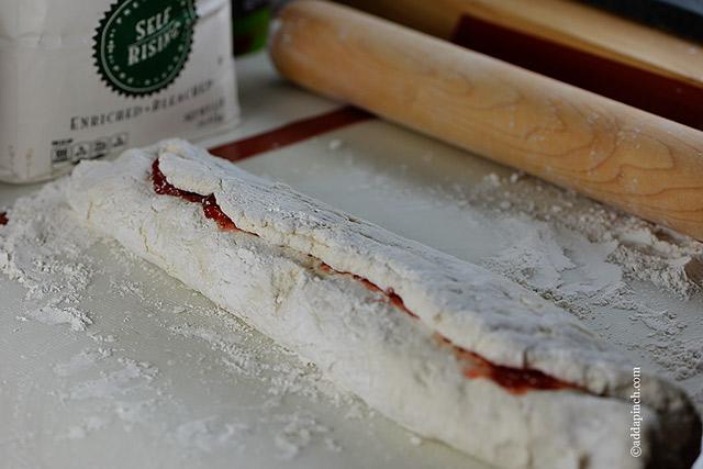 Strawberry Biscuit Rolls Recipe | ©addapinch.com