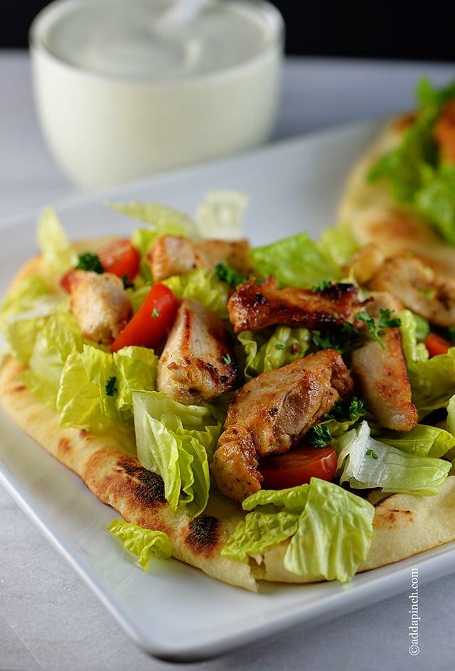 Chicken Souvlaki Recipe   ©addapinch.com