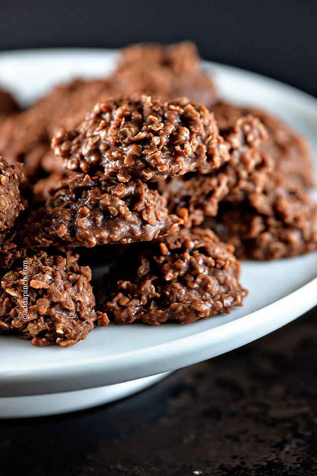 Chocolate No Bake Cookies | ©addapinch.com