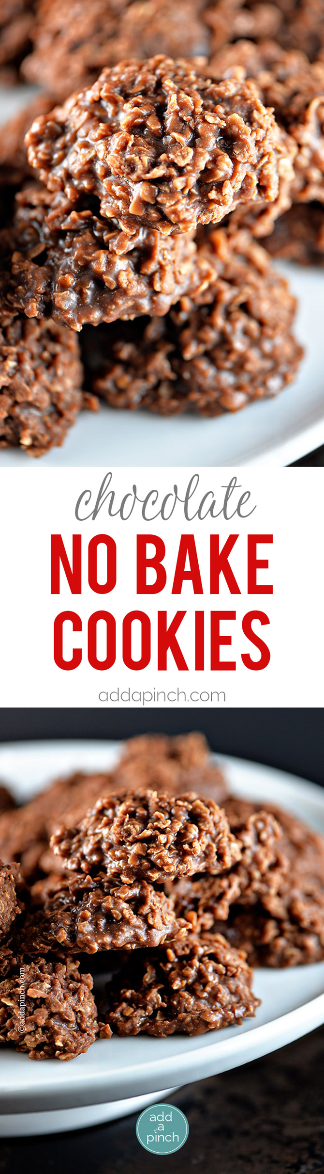 Simple chocolate no bake cookies make a perfect sweet treat. Made with ...