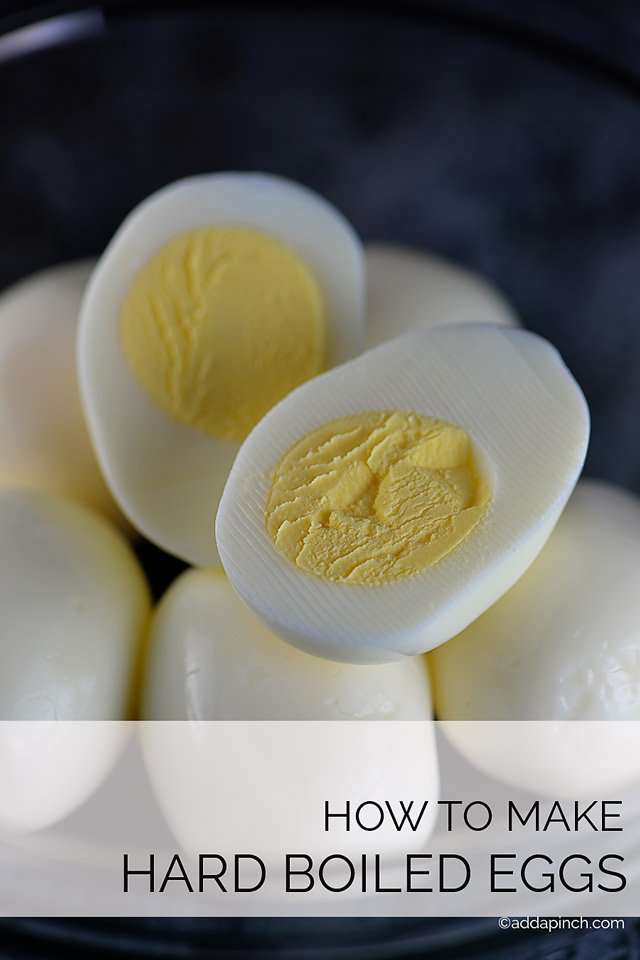 How to Make Hard Boiled Eggs | ©addapinch.com