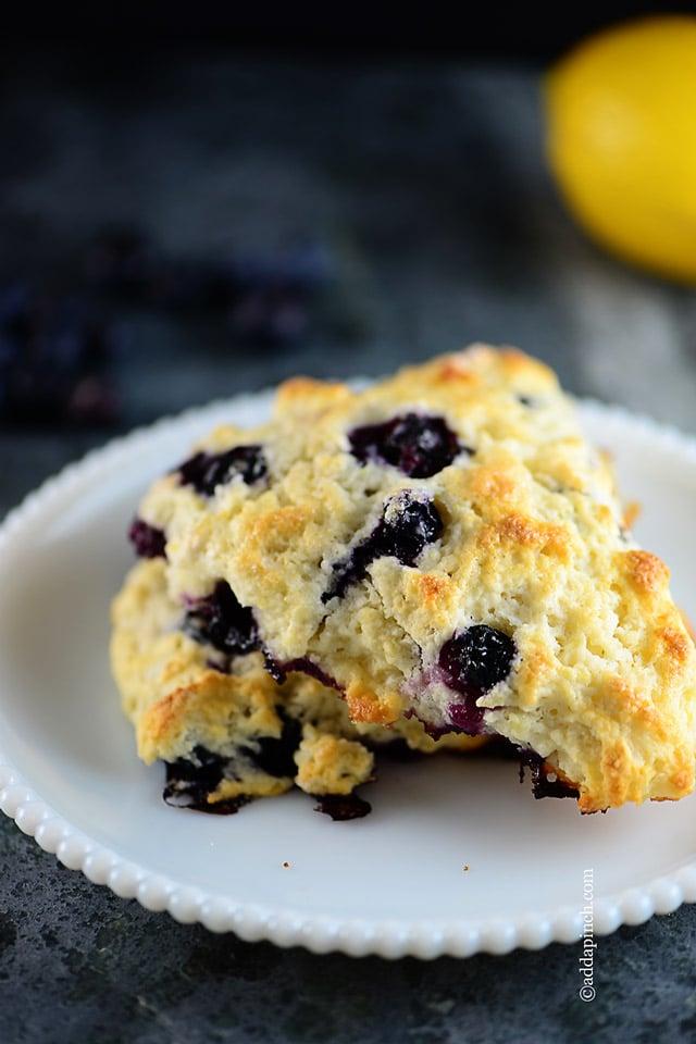 Lemon Blueberry Scones Recipe   ©addapinch.com