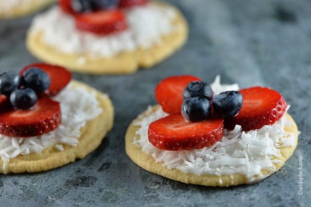 Mini Fruit Pizzas Recipe | ©addapinch.com