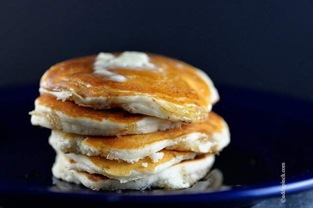 Perfect Buttermilk Pancakes Recipe | ©addapinch.com