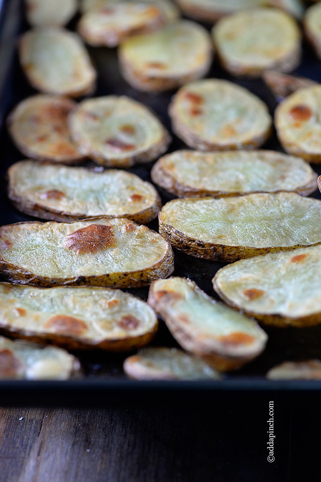 Roasted Potatoes Recipe | ©addapinch.com
