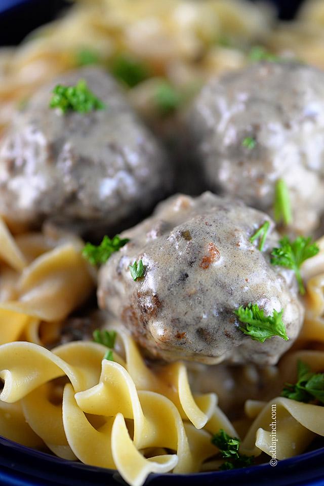 Swedish Meatballs Recipe | ©addapinch.com