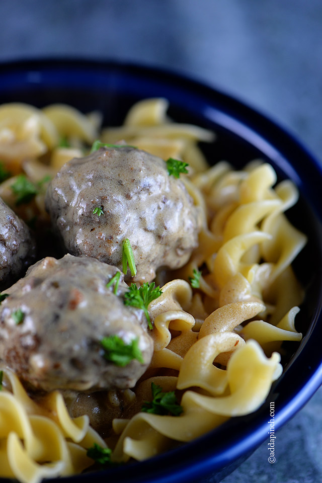 Swedish Meatballs Recipe | ©addapinch.com