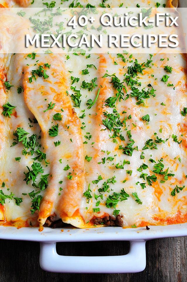 Mexican Recipes | ©addapinch.com