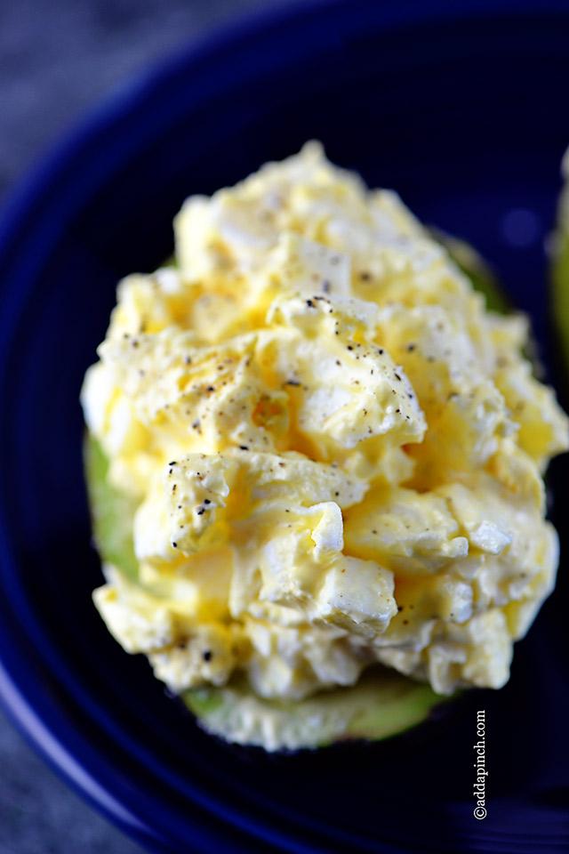Egg Salad Avocado Recipe | ©addapinch.com