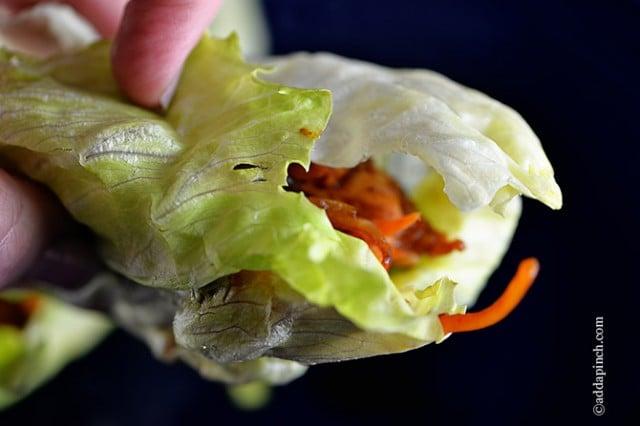 Chicken Lettuce Wraps   ©addapinch.com