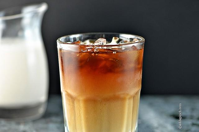 Iced Coffee Recipe | ©addapinch.com