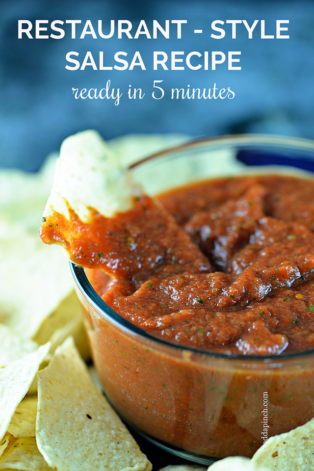 ... restaurant style salsa recipe that you can adjust the heat to your