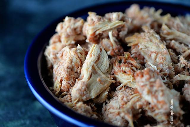 Salsa Chicken Recipe | ©addapinch.com