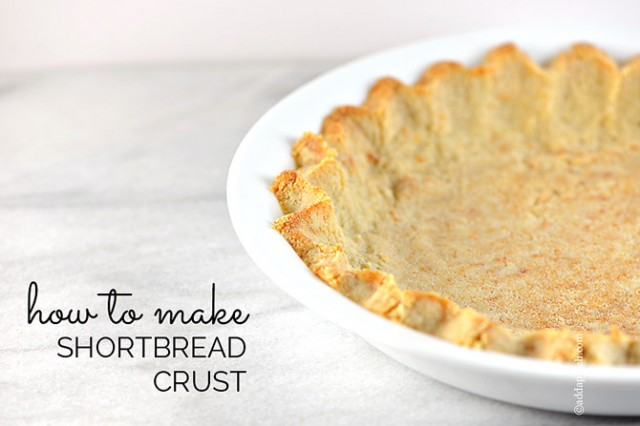 Shortbread Crust | ©addapinch.com