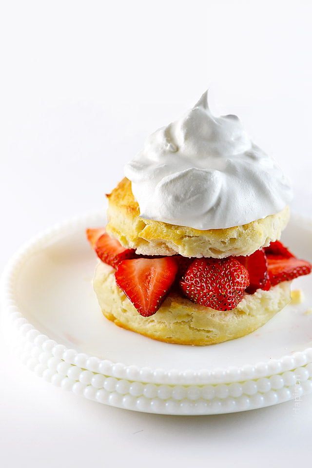 Strawberry Shortcake Recipe | ©addapinch.com