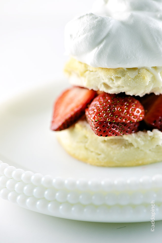 Strawberry Shortcake Recipe | ©addapinch.com