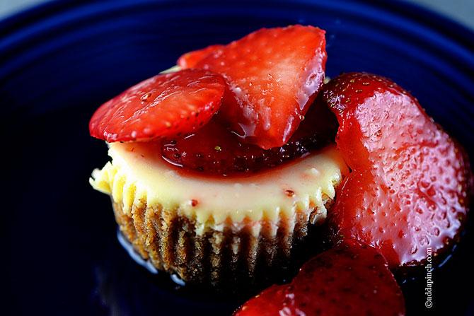 Mini New York Cheesecake Recipe from addapinch.com