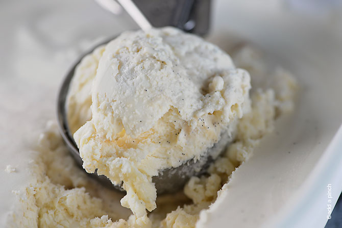 No Churn Ice Cream Recipe from addapinch.com