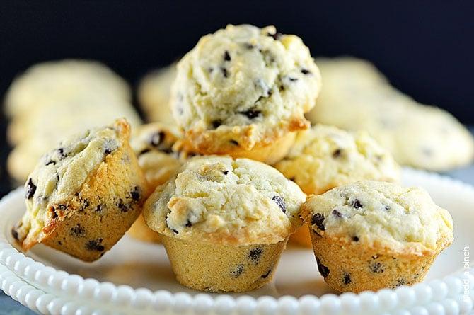 Chocolate Chip Muffins Recipe from addapinch.com