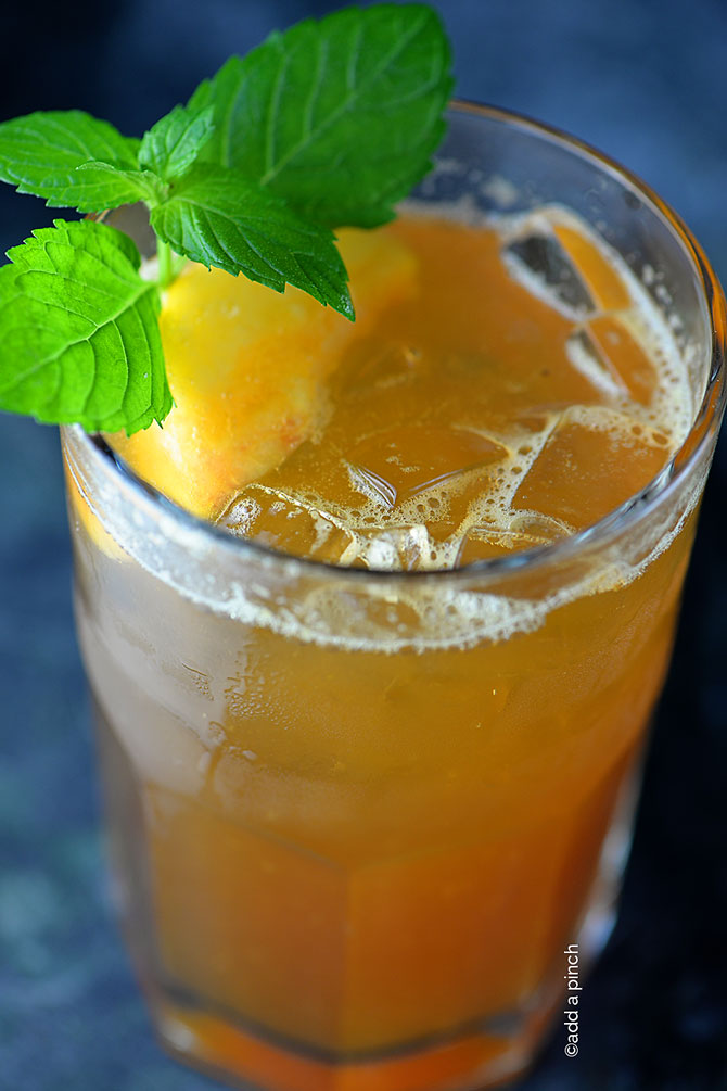 Peach Tea Recipe from addapinch.com