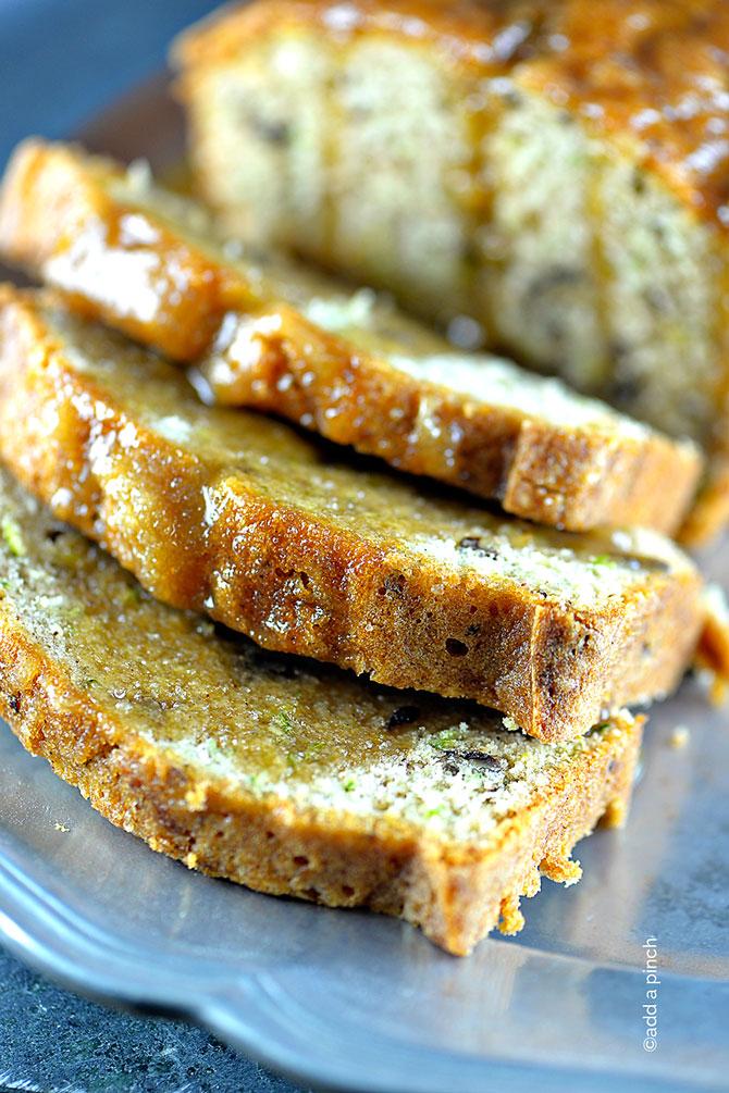 Salted Caramel Zucchini Bread Recipe from addapinch.com