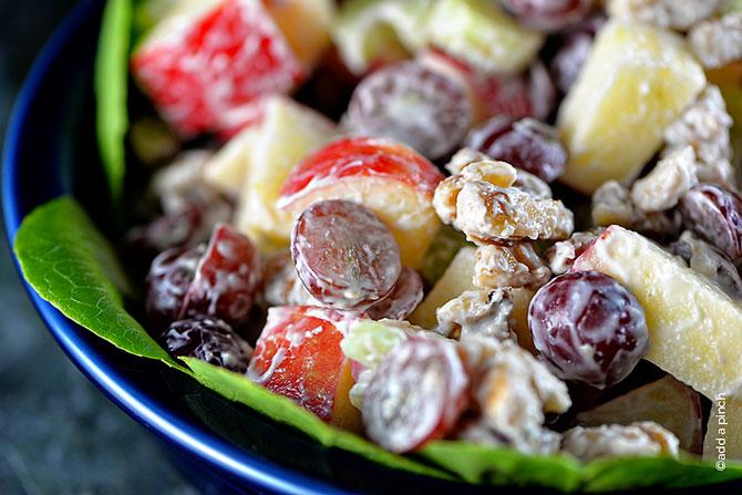 Waldorf Salad Recipe from addapinch.com
