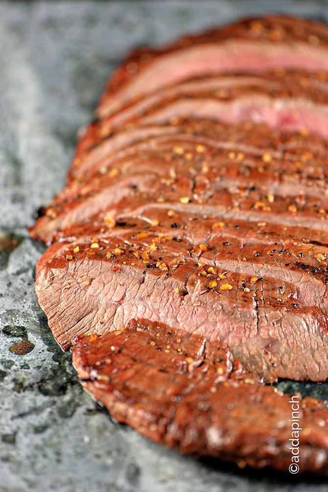 Flank Steak Recipe from addapinch.com