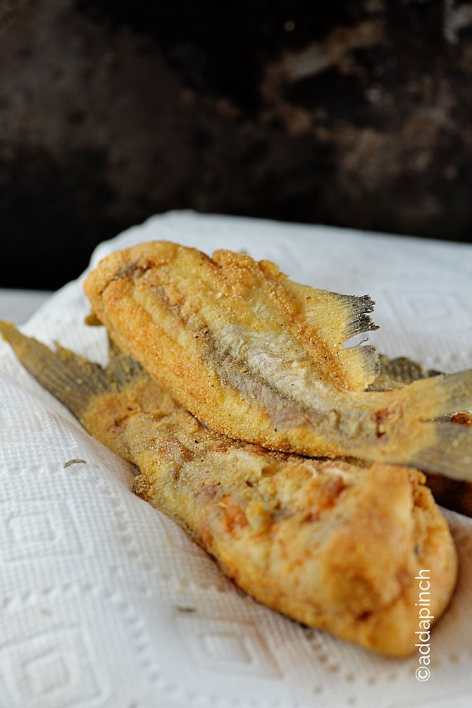 Southern fried catfish recipe add a pinch for Cornmeal fried fish