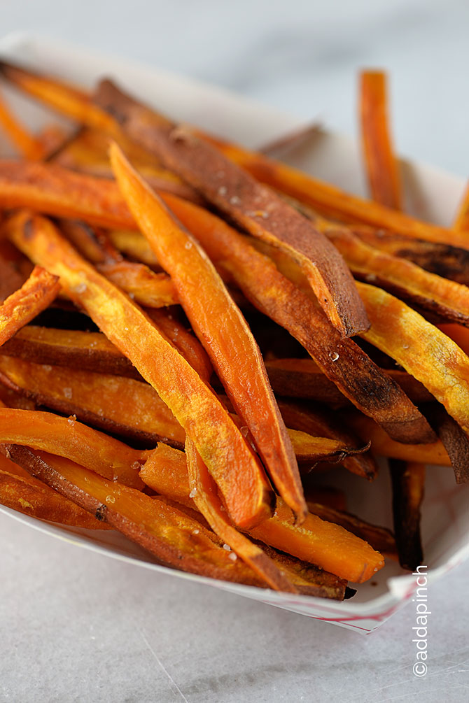 Sweet Potato Fries from addapinch.com