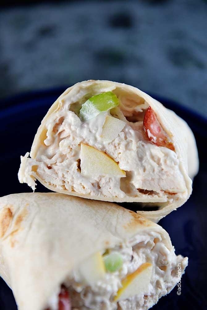 Chicken Salad Wrap Recipe from addapinch.com