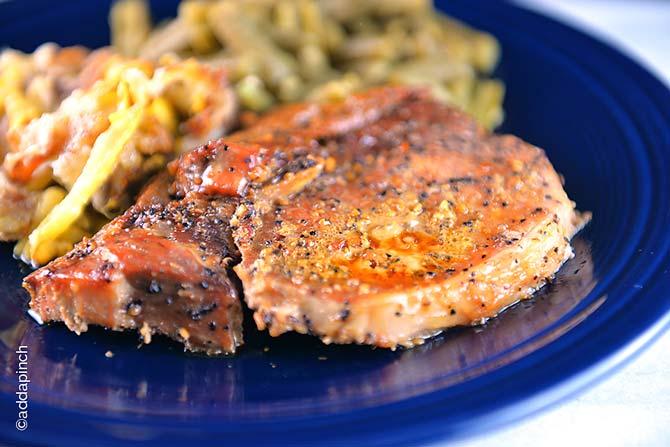 Honey Soy Pork Chops Recipe from addapinch.com