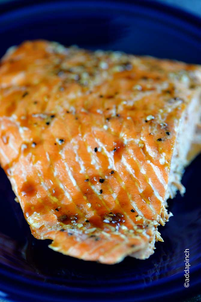 Teriyaki Glazed Salmon Recipe from addapinch.com