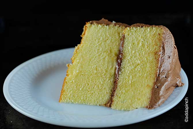Classic Yellow Cake Recipe from addapinch.com