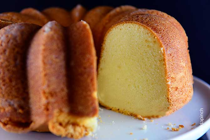 Classic Pound Cake Recipe from addapinch.com
