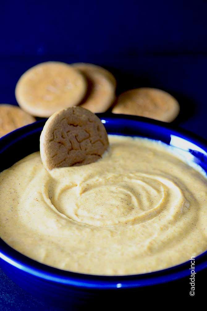Pumpkin Cheesecake Dip Recipe from addapinch.com