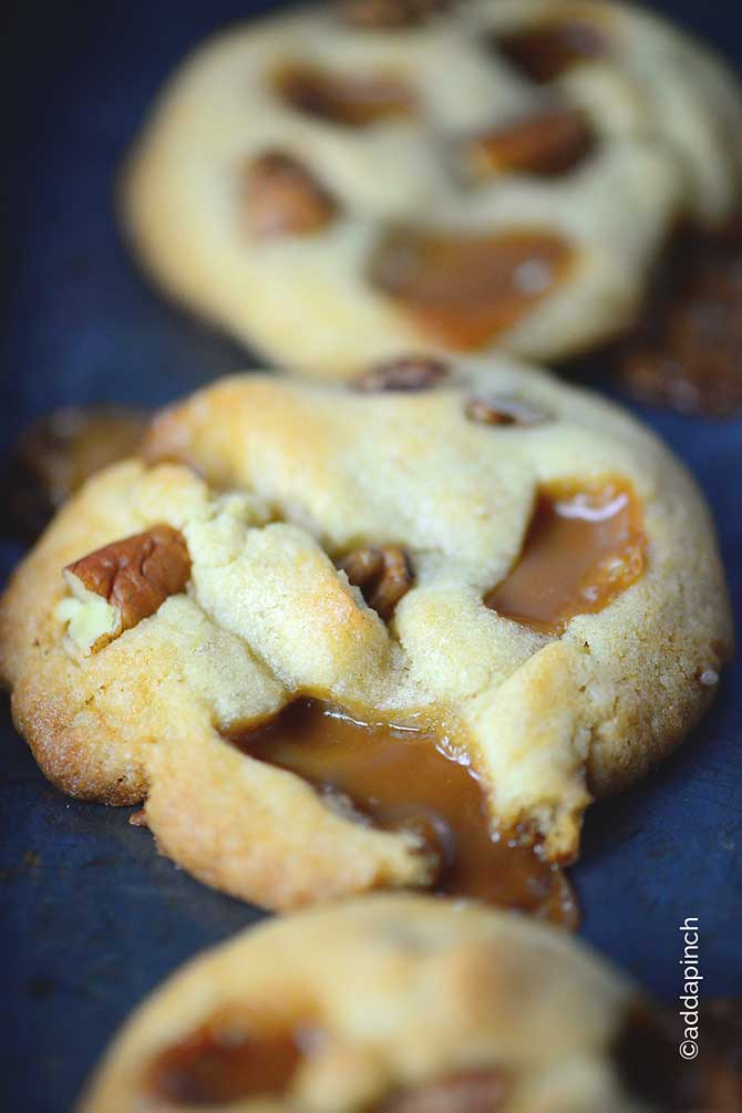 caramel pecan cookies are the perfect blend of buttery salted caramel ...