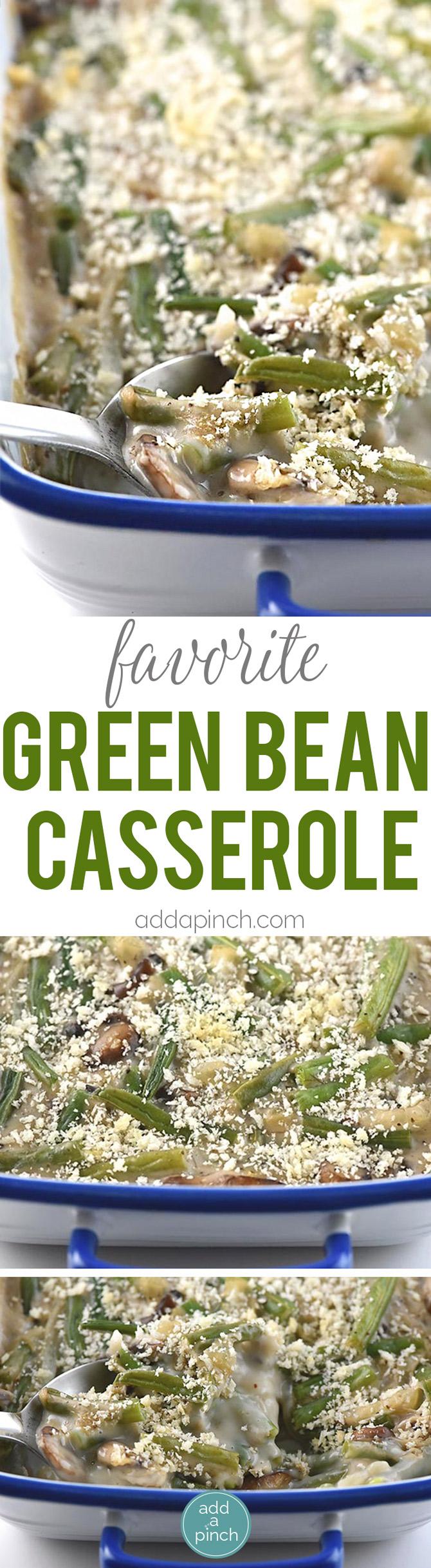 Easy Green Bean Casserole - A fresh take on classic green bean casserole! The easiest, creamiest green bean casserole ever. // addapinch.com